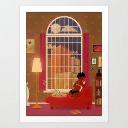 A quiet evening Art Print