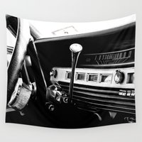 cars Wall Tapestries featuring Olddie Cars by Maioriz Home