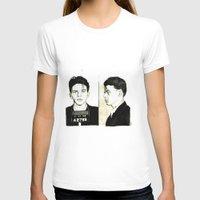 frank sinatra T-shirts featuring Frank Sinatra Mug Shot by Lauren Randalls ART