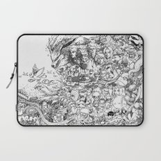 Naruto characters doodle Laptop Sleeve