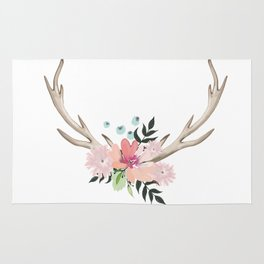 watercolor horns Rug
