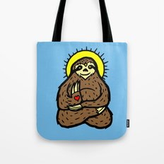 Buddha Sloth Tote Bag