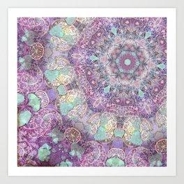 Aqua Leaf Art Print