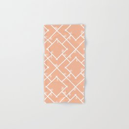 Bamboo Chinoiserie Lattice in Peach + White Hand & Bath Towel