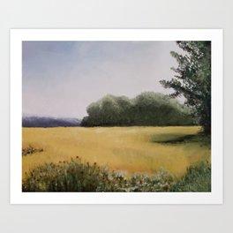 Autumn Field - Original Painting by Tracy Sayers Trombetta - Shades of Monet Art Print