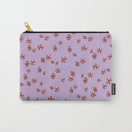Peppermint Candy in Purple Carry-All Pouch