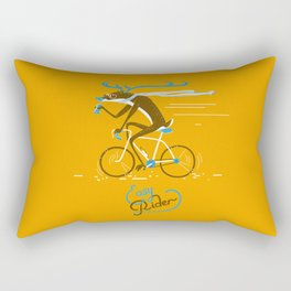 Easy Rider // (cycling hipster deer) Rectangular Pillow