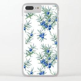 juniper pattern Clear iPhone Case
