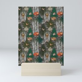 Sleepy Scandinavian Forest Mini Art Print