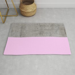Pink on Concrete Rug