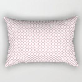 Orchid Pink Polka Dots Rectangular Pillow