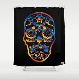 00  - COPERNICUS BLACK SKULL Shower Curtain