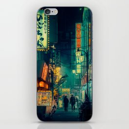 Tokyo Nights / Memories of Green / Blade Runner Vibes / Cyberpunk / Liam Wong iPhone Skin
