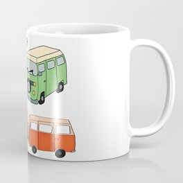 Van Life Camping Traveling Art Coffee Mug