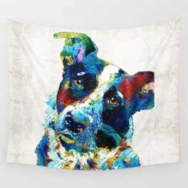 Colorful Dog Art - Irresistible - By Sharon Cummings Wall Tapestry
