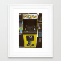 pacman Framed Art Prints featuring PacMan by Brieana
