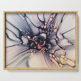 ABSTRACT FLOWER BURST Serving Tray