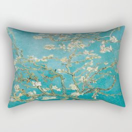 Vincent Van Gogh's Branches of an Almond Tree in Blossom Rectangular Pillow