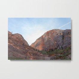 Desert Mountain Sunrise | Zion National Park Views Metal Print