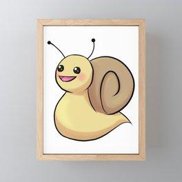 Chibi Snail Framed Mini Art Print
