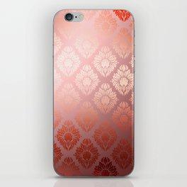 """""""Millennial Pink Damask Pattern"""" iPhone Skin"""
