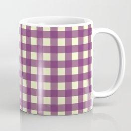 EGGPLANT CHECK Coffee Mug