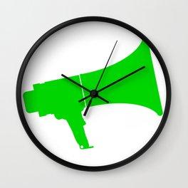 Green Isolated Megaphone Wall Clock