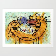 CatDog Art Print