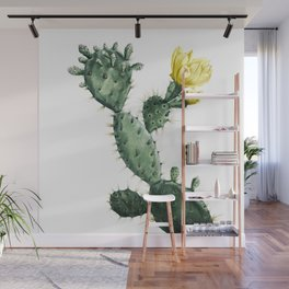 Vintage High Contrast Cactus Wall Mural