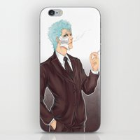 bleach iPhone & iPod Skins featuring Bleach: Grimmjow by Mattie