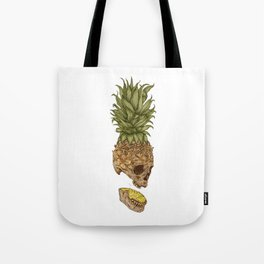 Pineapple Skull Tote Bag