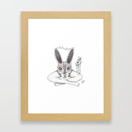 Fluffy Bunny- Shock Therapy Framed Art Print
