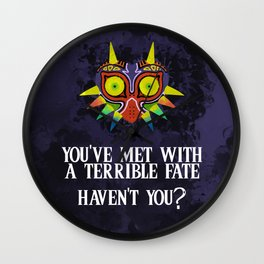 Majora's Mask Splatter (Quote) Wall Clock