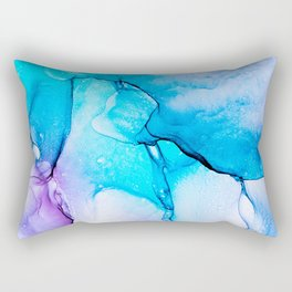 Abstract Alcohol Ink Painting -  Unicorn at Night Rectangular Pillow