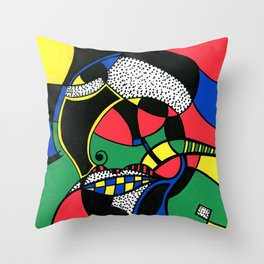 Print #7 Throw Pillow