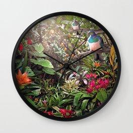 Temptation (NZ Kereru /  Woodpigeon artwork) Wall Clock