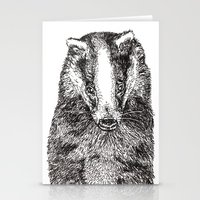 badger Stationery Cards featuring Badger by Meredith Mackworth-Praed