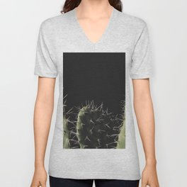 Minimalist Desert Cactus Unisex V-Neck