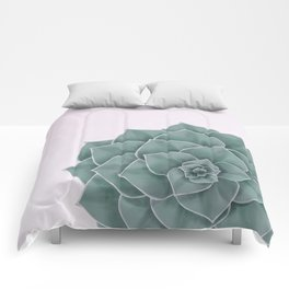 Big Green Echeveria Design Comforters