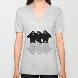 3 Monkeys Unisex V-Neck