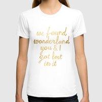 wonderland T-shirts featuring Wonderland by Tangerine-Tane