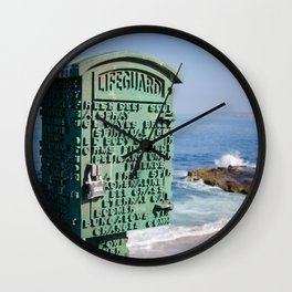 Lifeguard Box Wall Clock