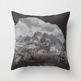 Fog in the Mountain Throw Pillow