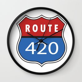 Route 420 Interstate Sign Wall Clock