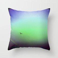 Seagull & Rainbow Throw Pillow