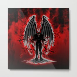 Evil Demon Spirit Metal Print