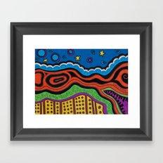 an abstract night Framed Art Print