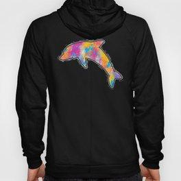 Colorful Dolphin Streetwear Graffiti Hand Drawn print Hoody