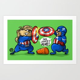 Caps 1 Art Print