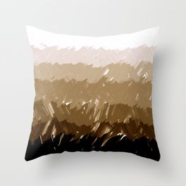 Shades of Sepia Throw Pillow